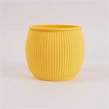 Chubby flowerpot Pale yellow