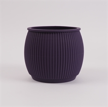 Chubby flowerpot Deep purple