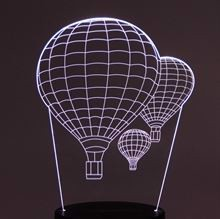 Plate for 3D Night light Airballoons