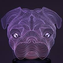 Plate for 3D Night light Dog