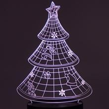 Plate for 3D Night light Christmas Tree