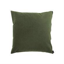 Cushion cover Washed canvas 50x50 Olive green