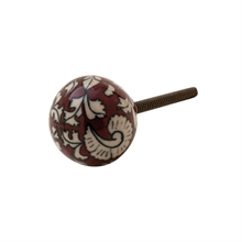 Knob with decoration